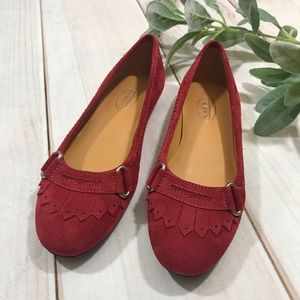 Talbots Red Suede Flats